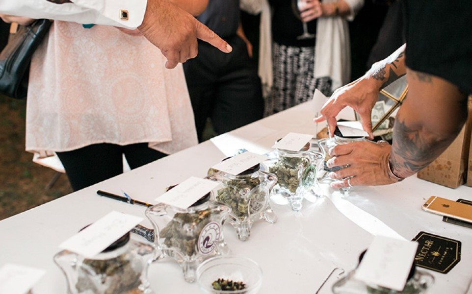 Cannabis bars become the latest trend at weddings