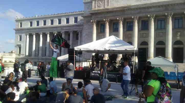Rally at El Capitolio in San Juan, Puerto Rico.