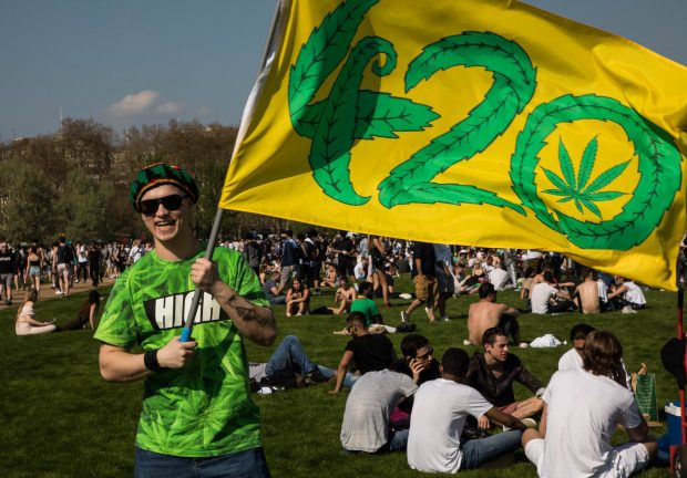 Mandatory Credit: Photo by Vianney Le Caer/REX/Shutterstock (9638106d) Thousands Cannabis enthusiasts gather in Hyde Park for the annual weed day, a.k.a. 420 420 Day, London, UK - 20 Apr 2018